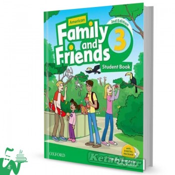 کتاب American Family and Friends 3 (2nd) SB+WB