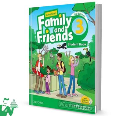 کتاب American Family and Friends 3 (2nd) SB+WB