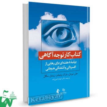 کتاب کار توجه آگاهی تالیف جان تیزدل ترجمه انوشه امین زاده